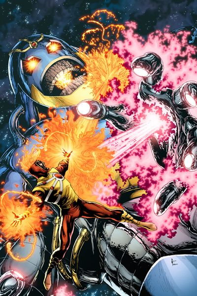 Firestorm vs. the Anti-Monitor by Gary Frank