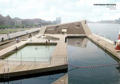 "BIG Winter Bath in Copenhagen Harbor: Cold Water, Hot <a class=""pintag"" href=""/explore/Architecture"" title=""#Architecture explore Pinterest"">#Architecture</a>"