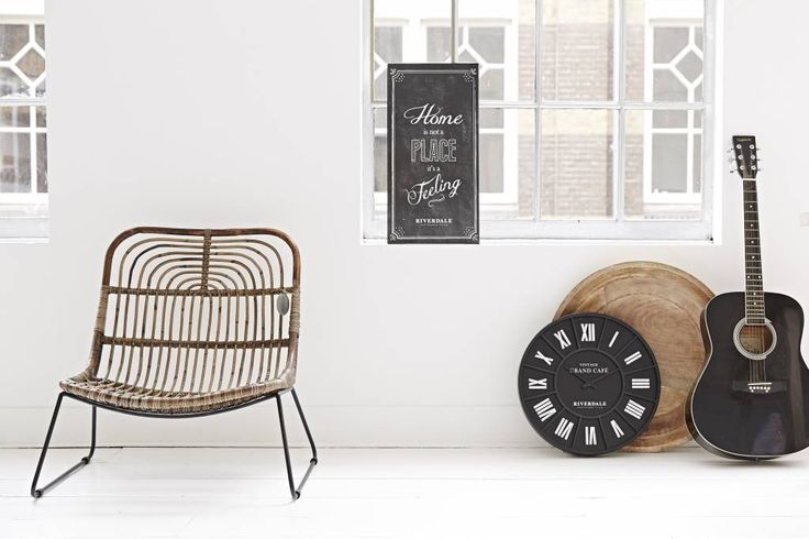 Riverdale Wandklok Grand Cafe Zwart - Ø45 cm - Sweet Living Shop