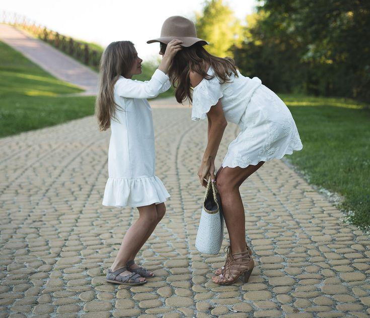 letnia sukienka dla mamy i córki