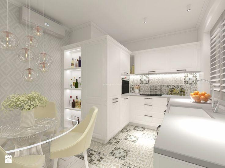 Z nutą turkusu - Kuchnia, styl nowoczesny - zdjęcie od LIVING BOX