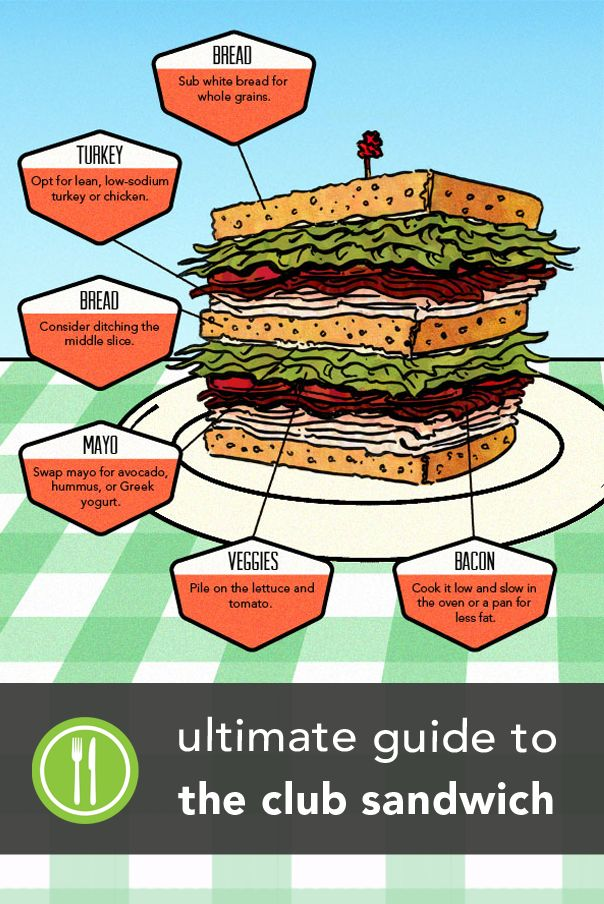 Everything You Ever Wanted to Know About the Club Sandwich | Greatist [Recipe makeover, Budget, Simple, D.I.Y., Homemade, Healthy, Whole grain, Poultry, Turkey, Vegetables] *