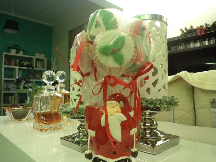 christmas lollipop cookies as a guest give away present