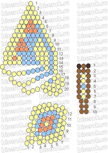 схемы БАБОЧЕК | biser.info - всё о бисере и бисерном творчестве