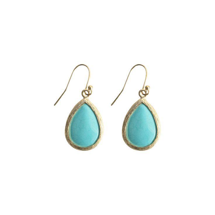 Fish Hook Earring - Turquoise, Women's, Turqouise