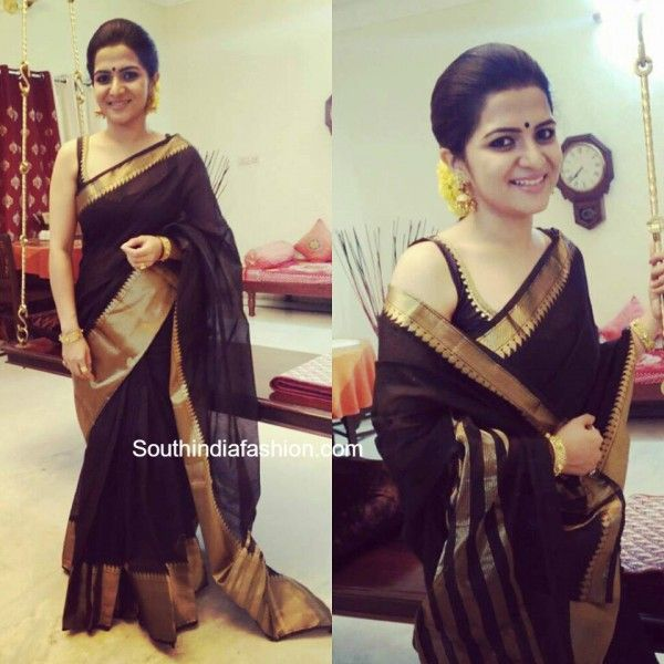 Divyadarshini in a traditional saree