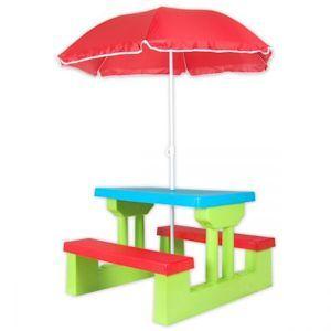 Kids Picnic Table Outdoor Multi-Colour Set with Umbrella