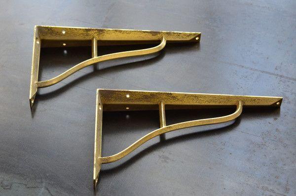 Futagami Brass Shelf Brackets