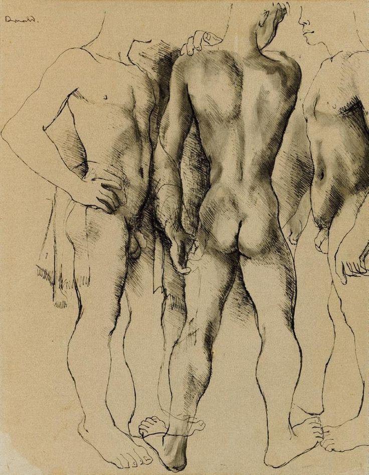Donald Friend -  Nude Study