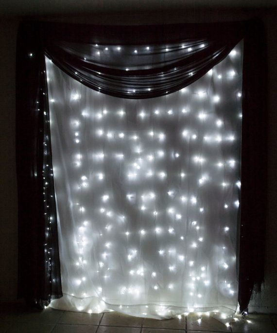 Bright LED Curtain Fairy Lights - 300 Ct 98 FT X 98 FT - Weddings