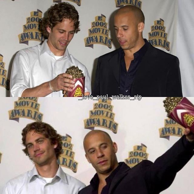 Happy #TorettoTuesday   #Brothers #fastfamily #brotherhood #fastfamilyforever #DomAndBrian #BrianOConner #DomToretto #TheFastAndTheFurious #MtvAwards #... - _love_paul_walker_rip (@_love_paul_walker_rip)