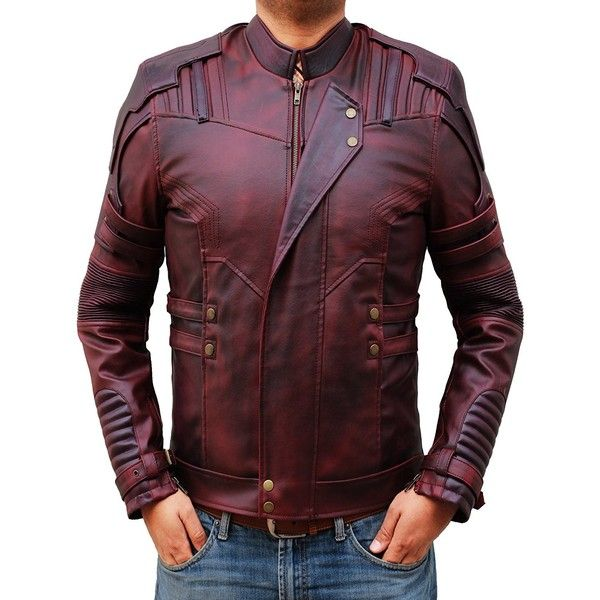 fjackets Men's Chris Red Galaxy and Capt Civil Leather Jacket ($129) ❤ liked on Polyvore featuring men's fashion, men's clothing, men's outerwear, men's jackets, mens red jacket, mens red leather jacket, mens real leather jackets and mens leather jackets