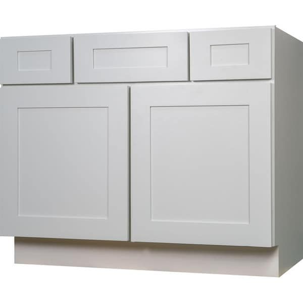 Photo Image Everyday Cabinets Shaker inch White Wood Single Sink Bathroom Vanity Cabinet Overstock