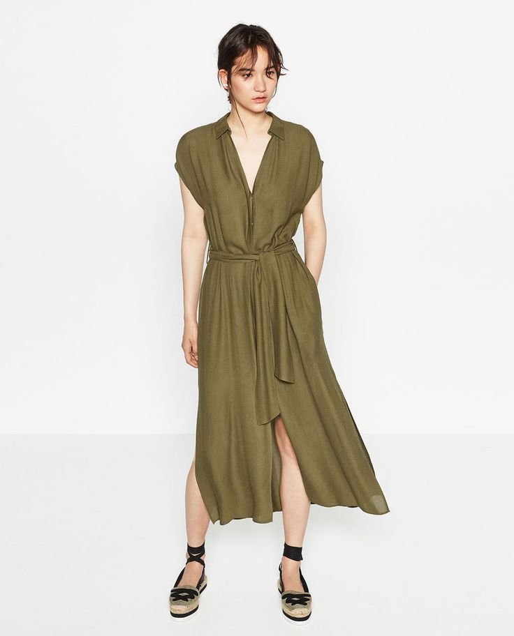 Image 1 of DRESS WITH SLITS from Zara