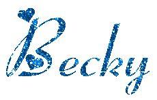 Becky name graphics