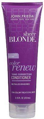 John Frieda Sheer Blonde Color Renew Tone Restoring Conditioner - 8.45 oz