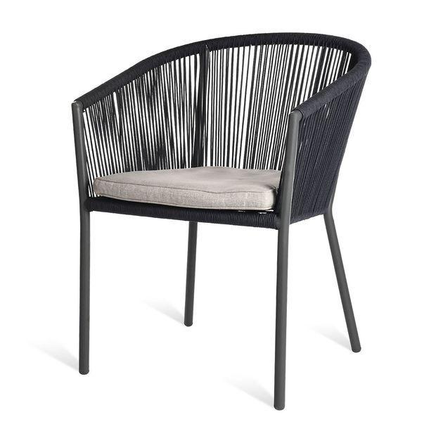 Loungesofa Rope L 166cm X H 79cm Grau Sitzkissen Stuhle Und