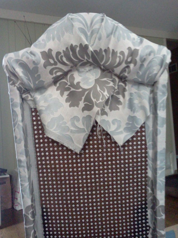 Proverbs 31 Mom: How to Turn a Cane Backed Chair into a Parsons Chair