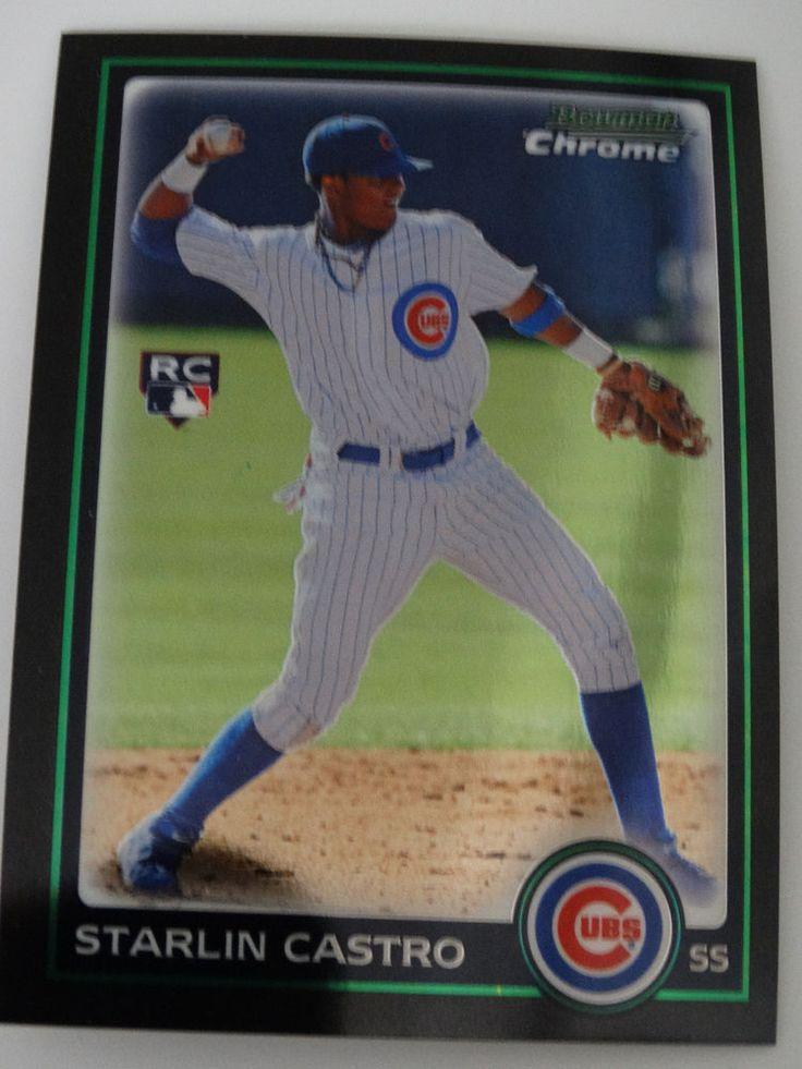 2010 Bowman Chrome #211 Starlin Castro Chicago Cubs Rookie RC Baseball Card #BowmanChrome #ChicagoCubs
