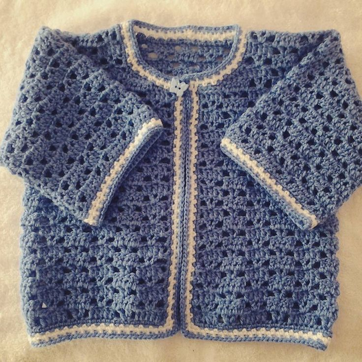 Saquito de bebé a crochet. Tutorial en español.