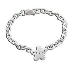 Sterling Baby's Spring Flower Name ID Bracelet