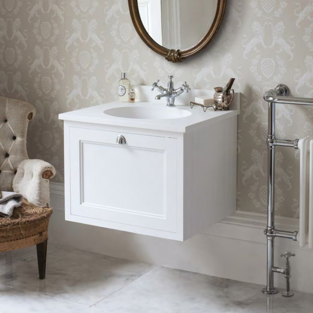 Burlington 65 Wall Hung Vanity Unit, 65 White Bathroom Vanity