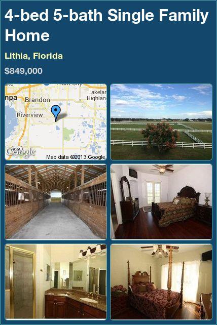 4-bed 5-bath Single Family Home in Lithia, Florida ►$849,000 #PropertyForSale #RealEstate #Florida http://florida-magic.com/properties/7051-single-family-home-for-sale-in-lithia-florida-with-4-bedroom-5-bathroom