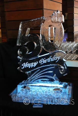 50th Ice Sculpture Add A Luge For Bartender To Pour