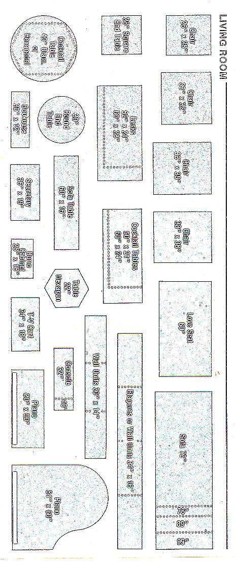 templatequarterscale2 | Quarter Inch Scale minis | Pinterest