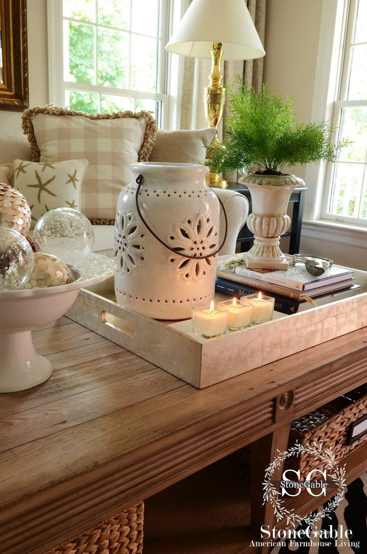 25 best ideas about coffee table styling on pinterest for Decorative dining table accessories