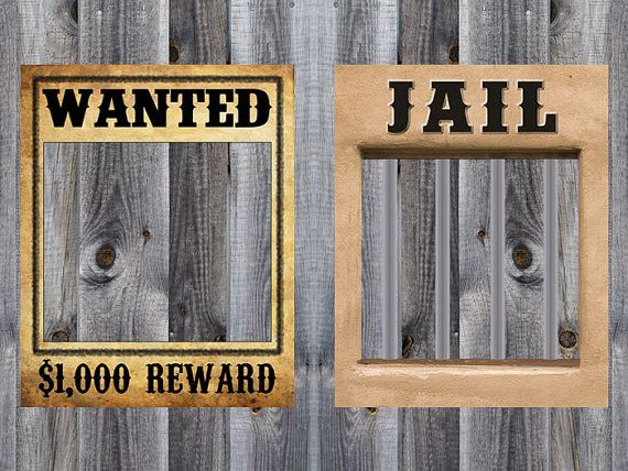 Wanted & Jail Poster Bundle Western Cowboy by GluteusMaximus