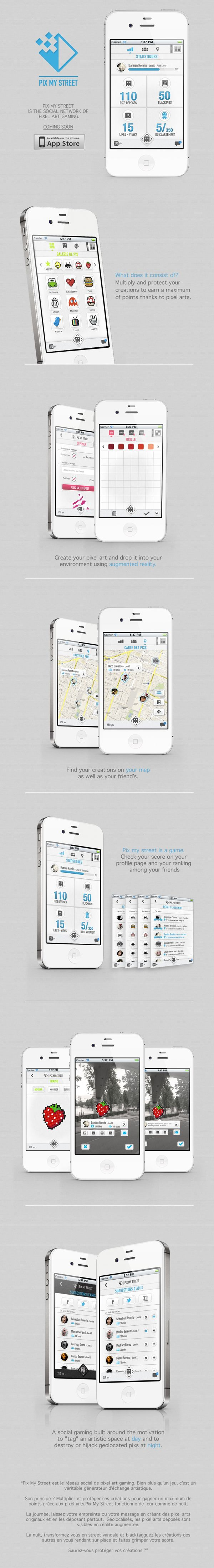 iPhone app Pix my street by julia bruyneel, via Behance