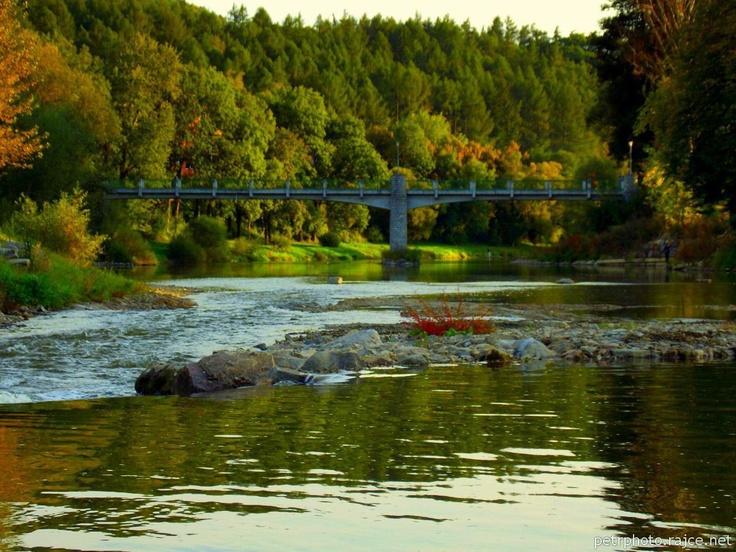 River and surrounding landscape - Autumn - Sázava
