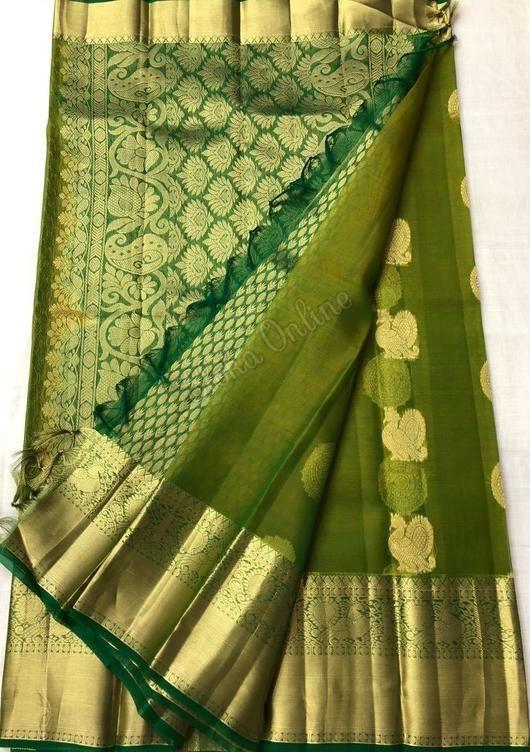Latest Pure Kanchi Kora Silk Sarees 10