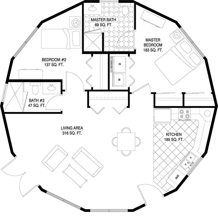 56 best House Plans images on Pinterest | Architecture, Dome house ...