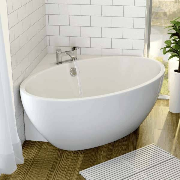 Affine Fontaine Corner Freestanding Bath 1510mm x 935mm with Built-In Waste