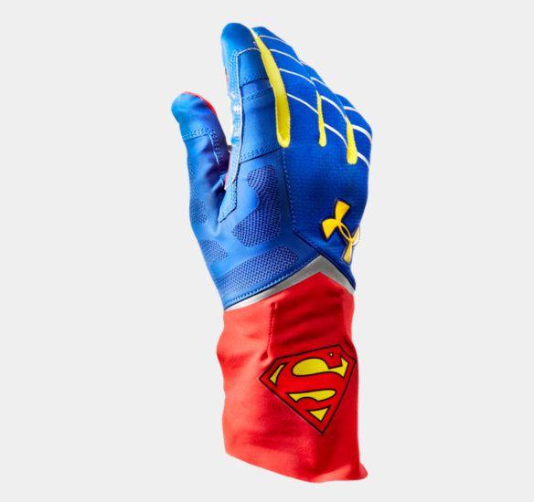 Men's Under Armour® Alter Ego Superman Highlight Football Gloves