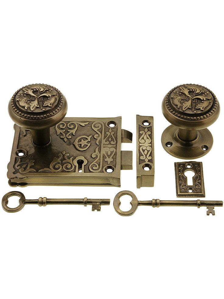 Late Victorian Style Rim Lock Set In Antique-By-Hand (item - 181 Best Doors Images On Pinterest Antique Door Hardware