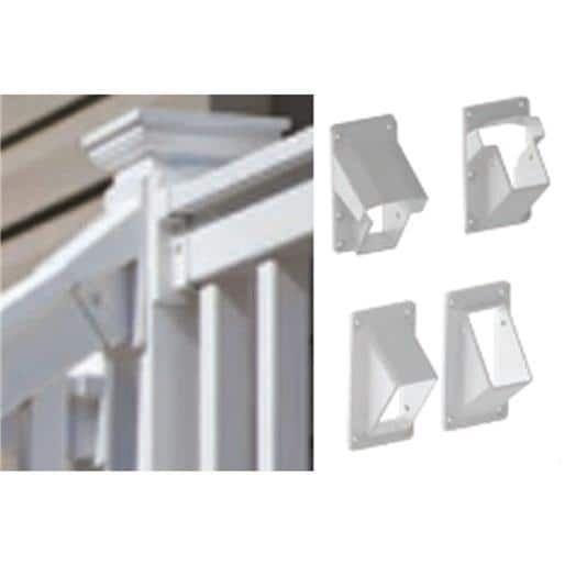 Snavely Internatl Stair Bracket Kit Fl 73019686 Unit: Each, White