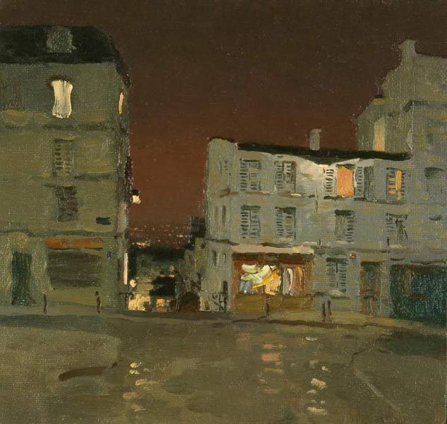 Bato Dugarzhapov, Evening on Monmartre, 1999