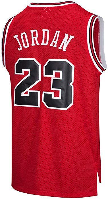 a7e990cebdb Amazon.com  RAAVIN Legend Mens  23 Basketball Jersey Retro Athletics Jersey  Red Strip S-XXXL (RED