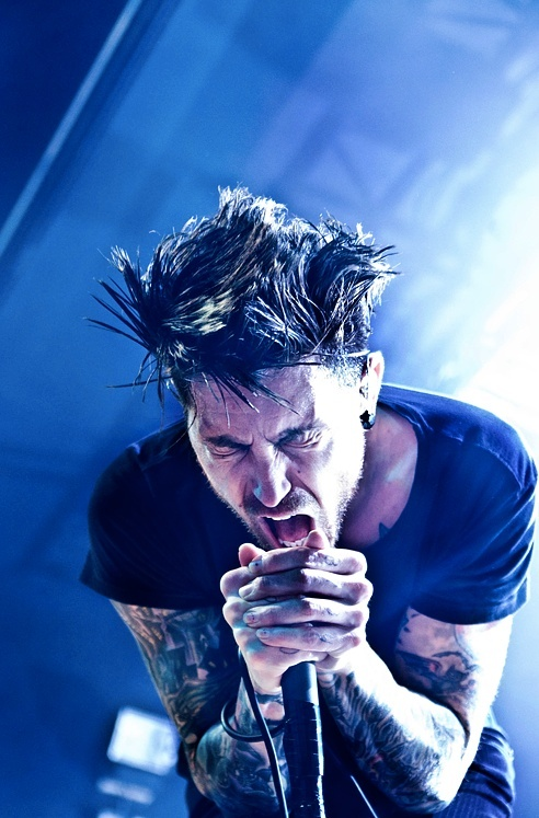 Afi's Davey Havok. See him in concert and suddenly you realize...*sigh*