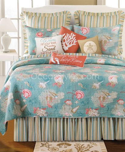 Hawaiian, Coastal, Beach and Tropical Bedding | OceanStyles.com