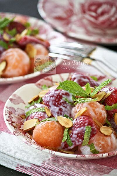 Cantaloupe Strawberry Salad-serve at Mother's Day Brunch!
