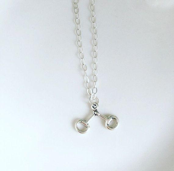 Horse bit necklace sterling silver by CharlotteFarrBridal on Etsy
