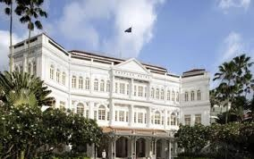 The beautiful and historic Raffles Hotel in Singapore...