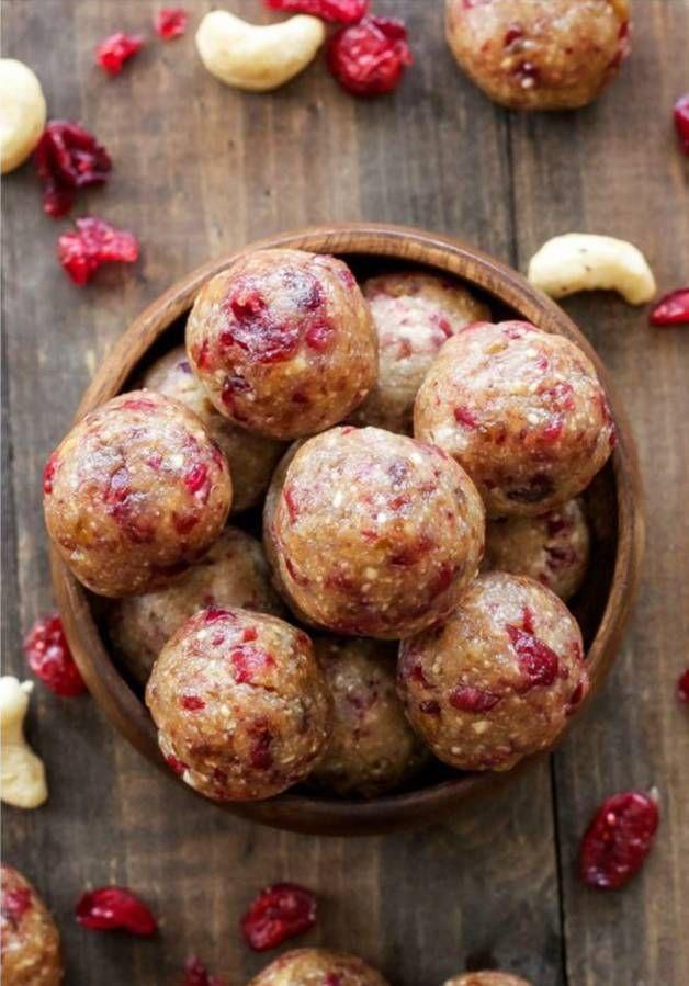 Energy balls cranberries dattes / recette minceur / healthy food