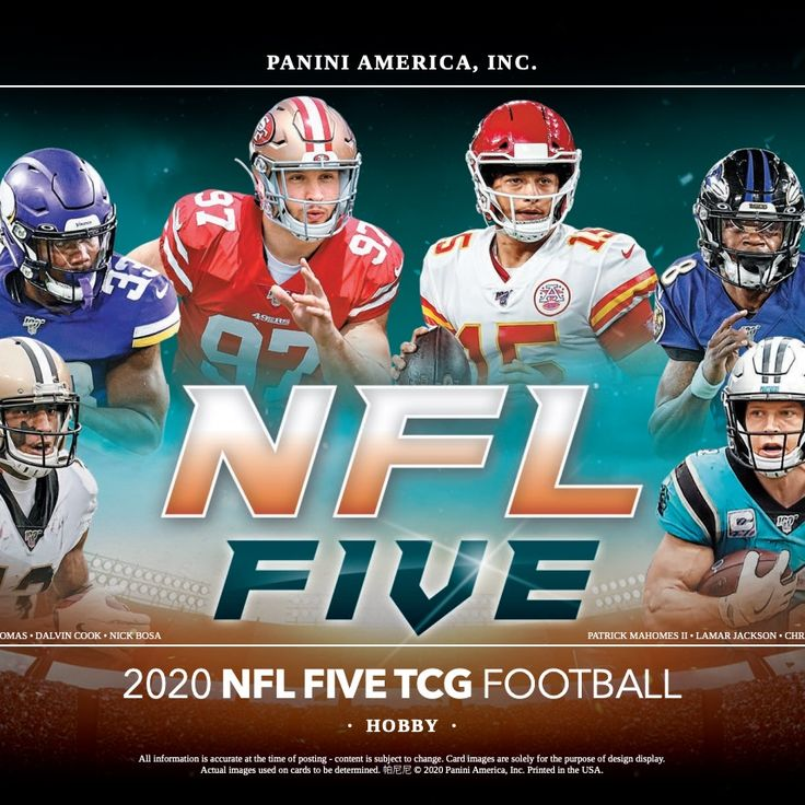 2020 panini nfl five trading card game checklist set
