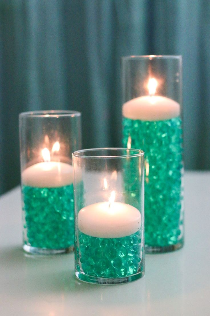candle wedding decorations best 20 water centerpiece ideas on 2429