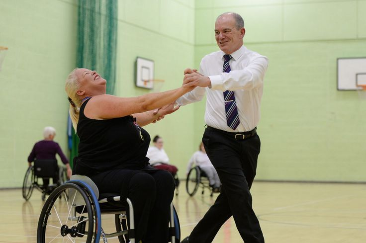 Wheelchair dancing boosts self-esteem.. there's no pressure, it's strictly fun